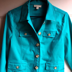 Women's Teal Petite Medium Jacket